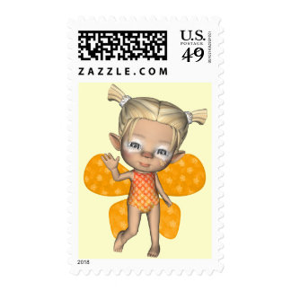 Baby Strangeling Fairy Postage Stamp