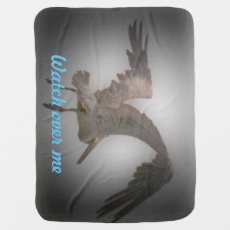 """Baby/stroller blanket """"Watch over me"""" pelican"""