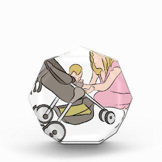 Baby Stroller Mom Acrylic Award
