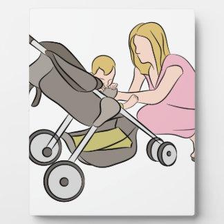Baby Stroller Mom Photo Plaque