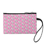 Baby Stroller Pattern on Pink. Coin Purses