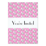 """Baby Stroller Pattern on Pink. 5"""" X 7"""" Invitation Card"""