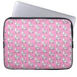 Baby Stroller Pattern on Pink. Laptop Sleeve