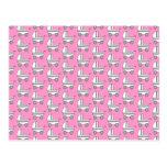 Baby Stroller Pattern on Pink. Postcard