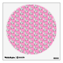 Baby Stroller Pattern on Pink. Wall Decal