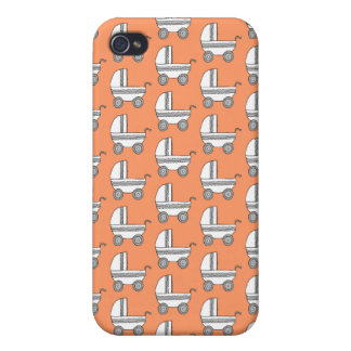 Baby Stroller Pern on Orange. iPhone 4/4S Cases