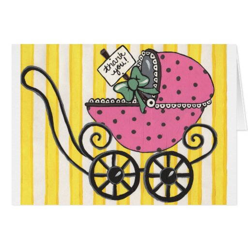 baby stroller thank you card