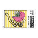 baby stroller thank you postage stamps
