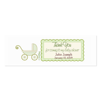 Baby Stroller - Thanks Favor Tag Double-Sided Mini Business Cards (Pack Of 20)