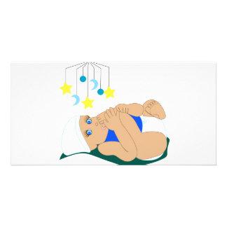 Baby Sucking Toe Photo Card