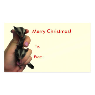 Baby Sugar Gliders Merry Christmas Big Tag Business Card