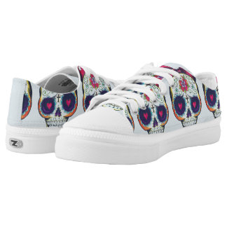 Baby sugar skull low top lace up