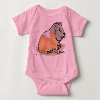 Baby summer suit with Guinea Pig Baby Bodysuit
