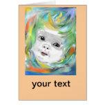 Baby, sunshine birth card