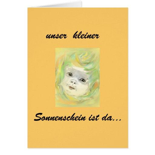 Baby, sunshine birth cards