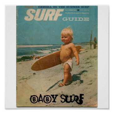 Toddler & Baby themed baby surf, Baby Surf Poster