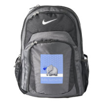 Baby Survival Kit Cute Elephants Blue Diaper Nike Backpack