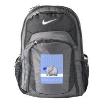 Baby Survival Kit Cute Elephants Blue Diaper Nike Backpack