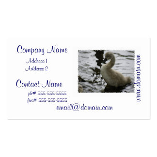 Baby Swan Double-Sided Standard Business Cards (Pack Of 100)