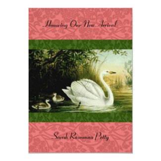 Baby Swans Baby Shower invitation