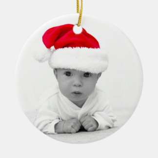 Baby Sweet C Double-Sided Ceramic Round Christmas Ornament