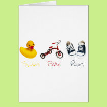 Baby Swim Bike Run Card