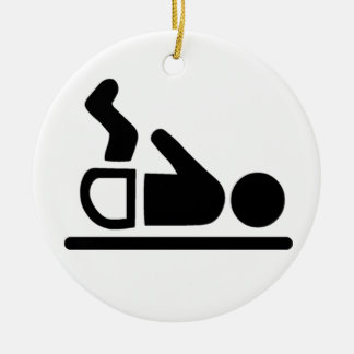 Baby Symbol Double-Sided Ceramic Round Christmas Ornament