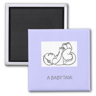 baby-t10624, A BABY TASK 2 Inch Square Magnet