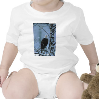 Baby T / Bald Eagle in Winter Snow Tees