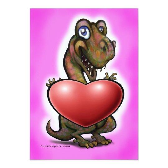 Baby T-Rex Heart Card