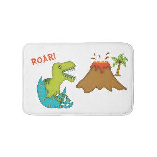 Baby T-Rex with Volcano-Kids Bath Mats
