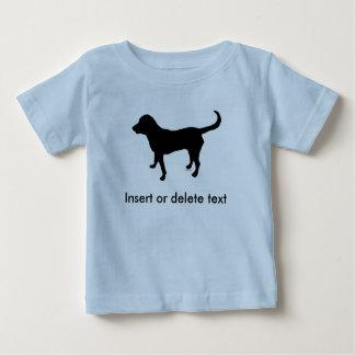 Baby t-shirt black lab silhouette
