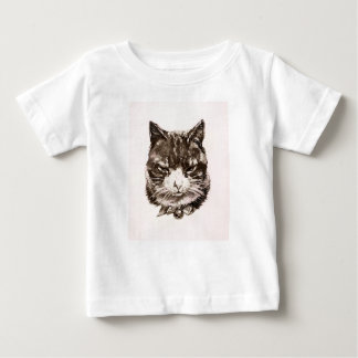 Baby T-shirt Cat reproduction vintage illustration