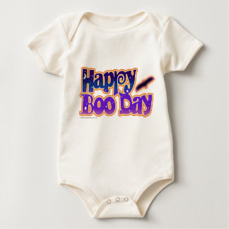 Baby T-shirt Creepers- HAPPY BOO DAY - H