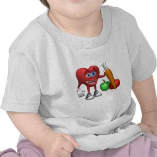 Baby T Shirt-Health Heart Fruits and Veggies