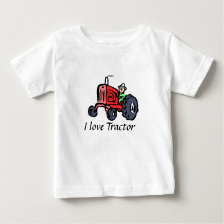 """Baby T-shirt knows """"I love Tractor """""""