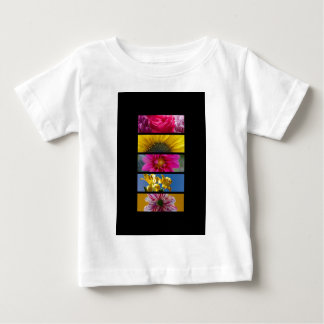 Baby T-Shirt - Pink & Yellow Macro Flowers