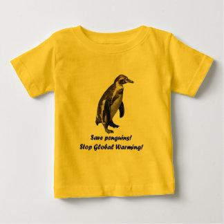 "baby T-shirt ""save penguins. """