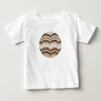 Baby T-shirt with beige mosaic