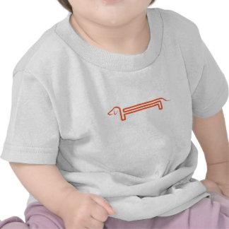 Baby T shirt with dachshund