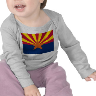 Baby T-Shirt with Flag of Arizona, U.S.A.