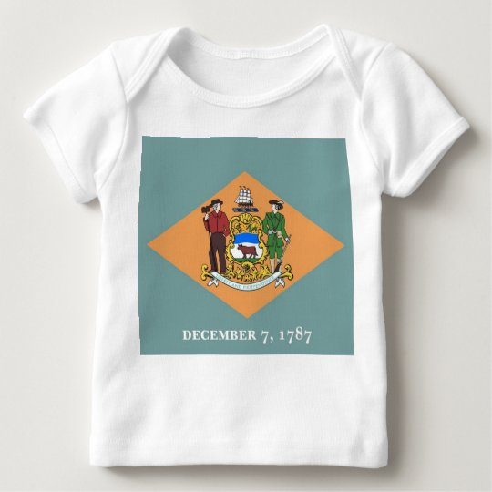 Baby T-Shirt with Flag of Delaware