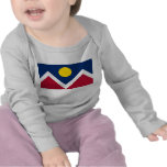 Baby T-Shirt with Flag of Denver City, Colorado