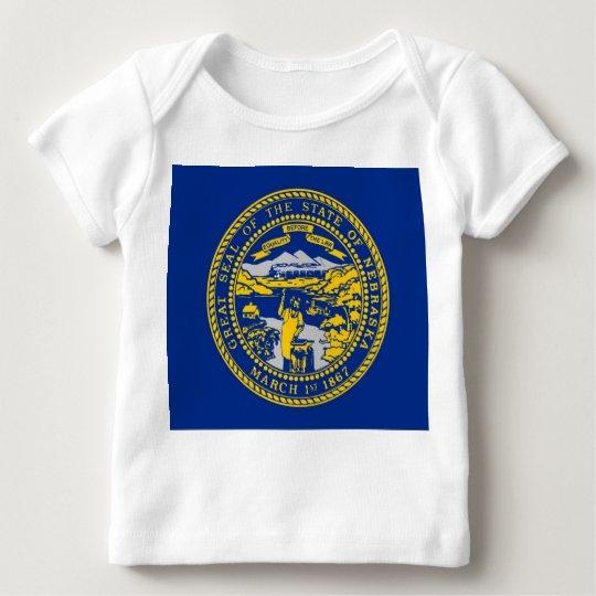 Baby T Shirt with Flag of Nebraska