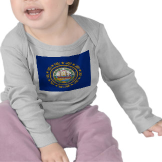 Baby T Shirt with Flag of New Hampshire