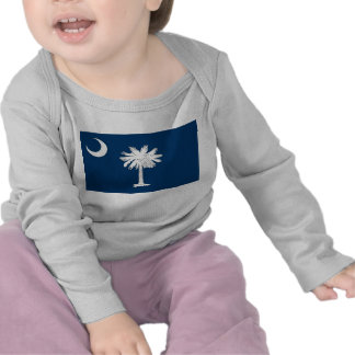 Baby T Shirt with Flag of South Carolina