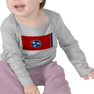 Baby T Shirt with Flag of Tennessee U S A
