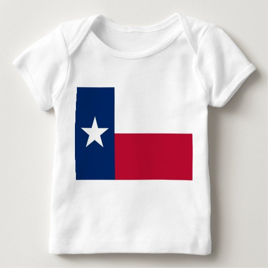 Baby T Shirt with Flag of Texas, U.S.A.