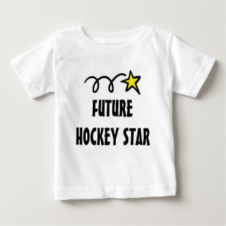 Baby t-shirt with funny quote - Future hockey star