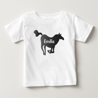 Baby T-Shirt with Horse & Name